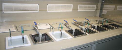 Ванны в модулях устанавливаются в указанной ослдовательности на линии