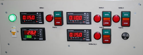 Контроль и регулировка температуры осуществляется микропроцессорными устройствами